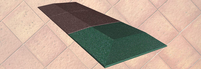 Corners beveled rubber tiles 1 - Fixer