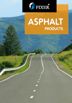 asphalt products catalog - fixerint